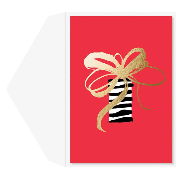 Fancy Gift Holiday Greeting Card