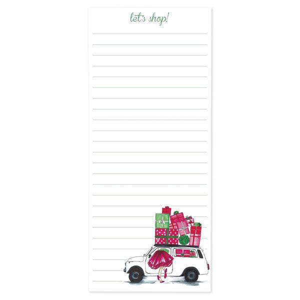 Fashion Girl Holiday Magnetic Notepad