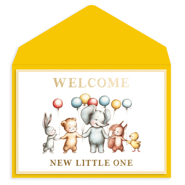 Baby Animal Friends Baby Card