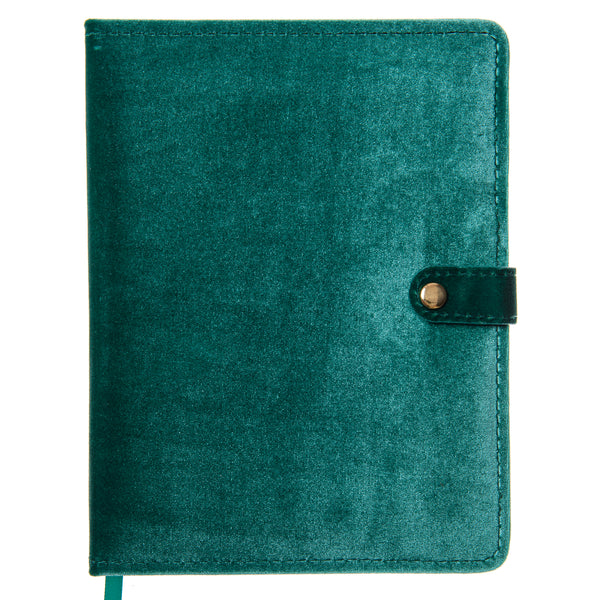 Emerald Velvet 6x8 Snap Journal