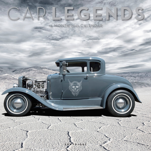 Car Legends Wall Calendar