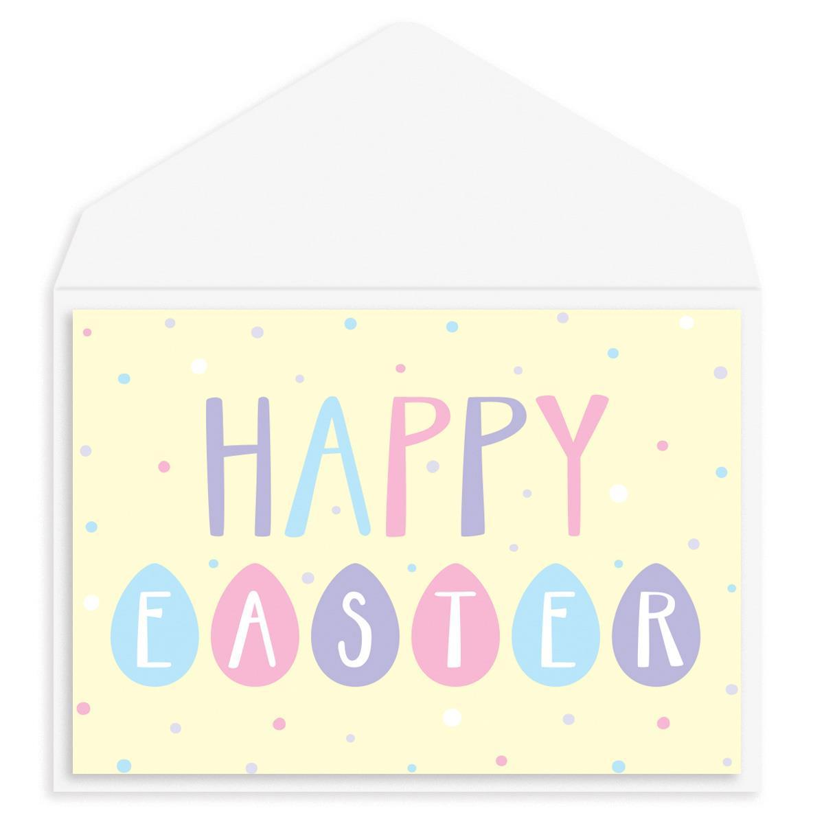 Happy Easter Eggs Easter Card