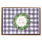 BW Plaid Merry Christmas Holiday Large Boxed Cards