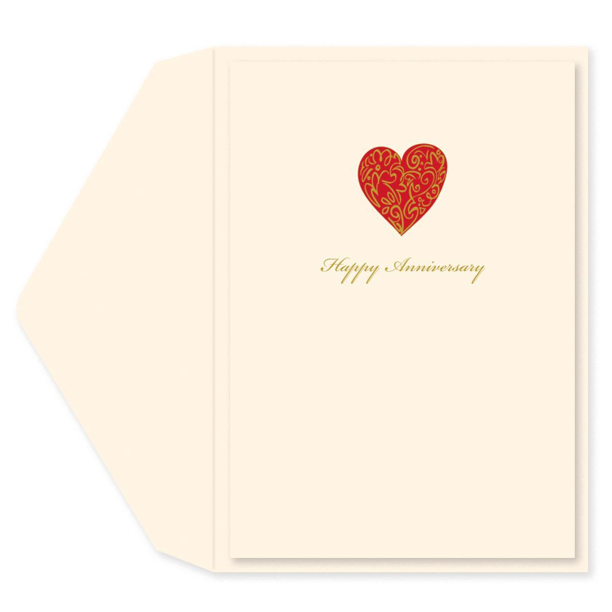 Loving Heart Anniversary Card