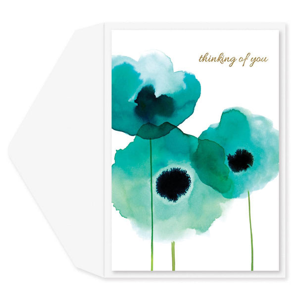 Thoughtful Poppies Sympathy Card