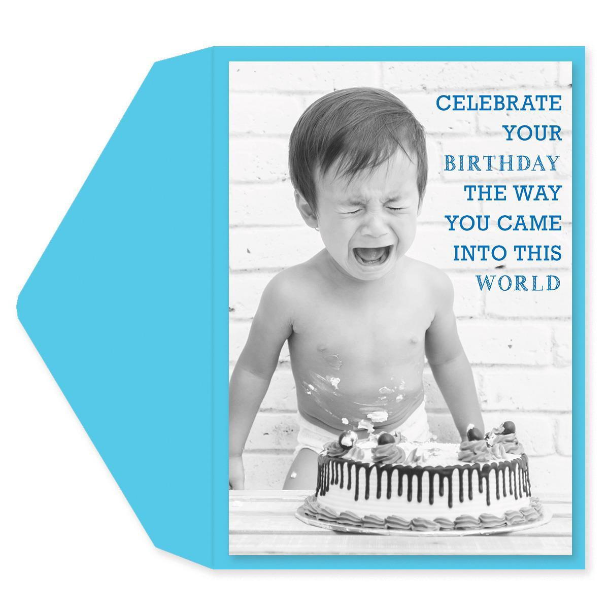 Naked & Screaming Birthday Card