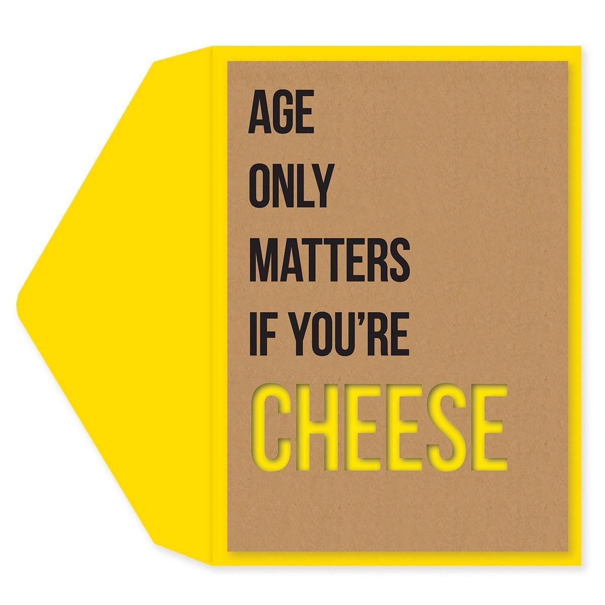 Age Only Matters Birthday Card