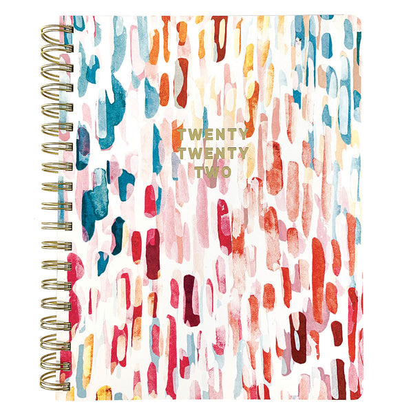Brush Strokes 8x10 18-Month Spiral Vegan Leather Planner
