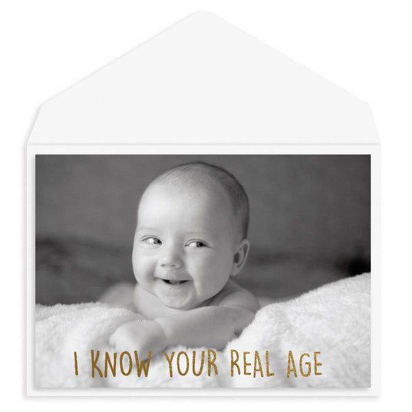 Real Age Birthday Card