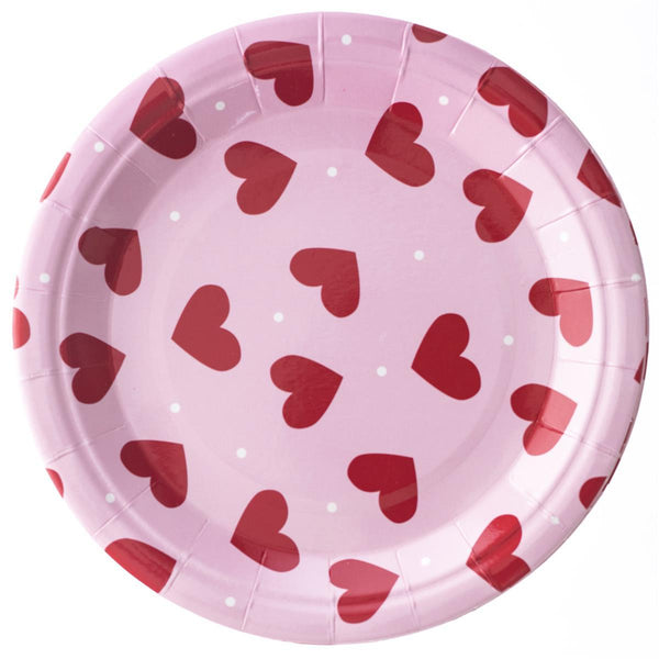 "Valentine Hearts Plate 7"" Paper Plates"