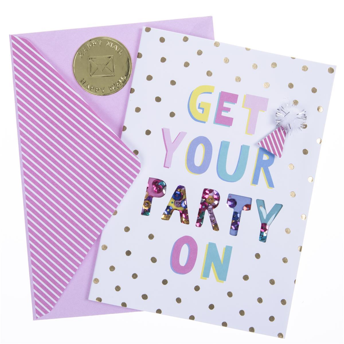 Get Your Party On Birthday Handmade Card