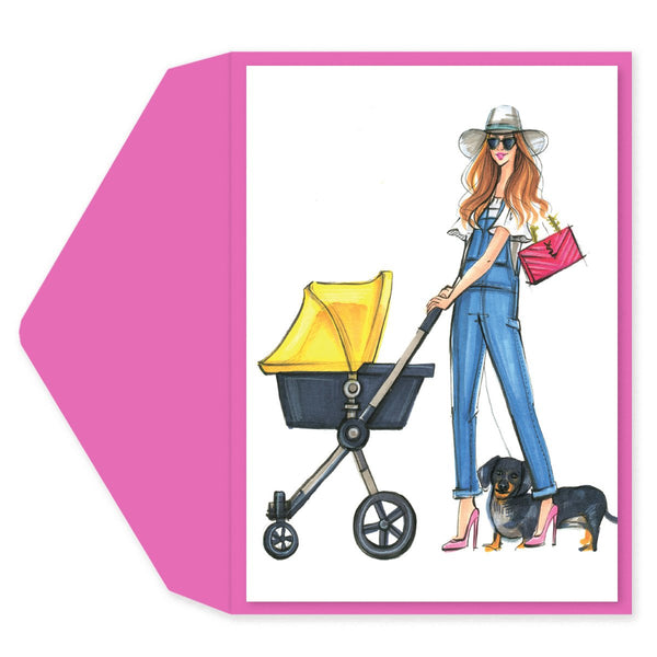 Diva Mom Baby Shower Card