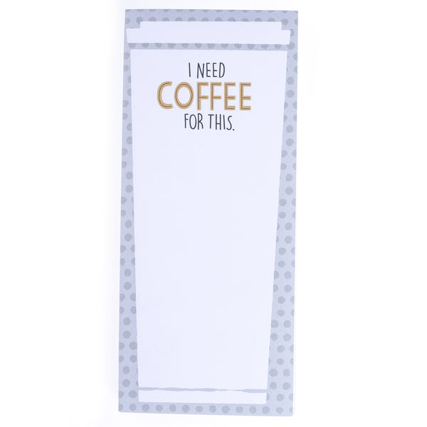 Coffee Magnetic Notepad