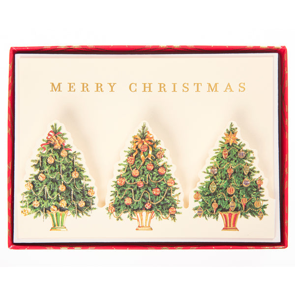 Christmas Tree Trio Holiday Large Boxed Cards