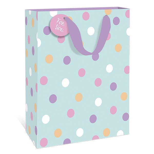 Spring Polkadots Teal Small Gift Bag