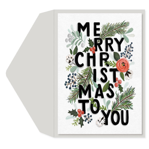Merry Christmas to You Holiday Greeting Card