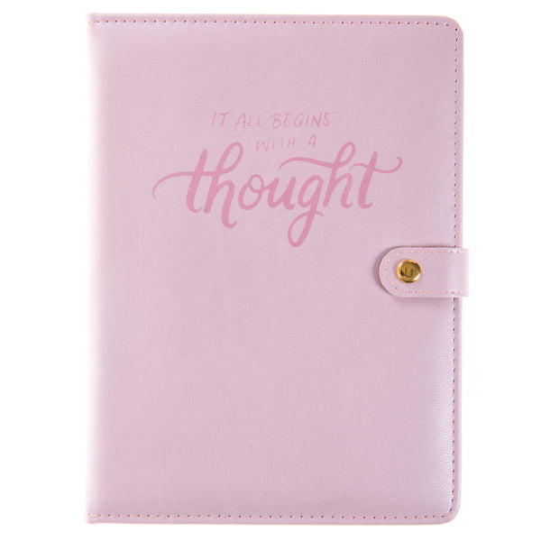 Pearlized Pink 6x8 Snap Journal