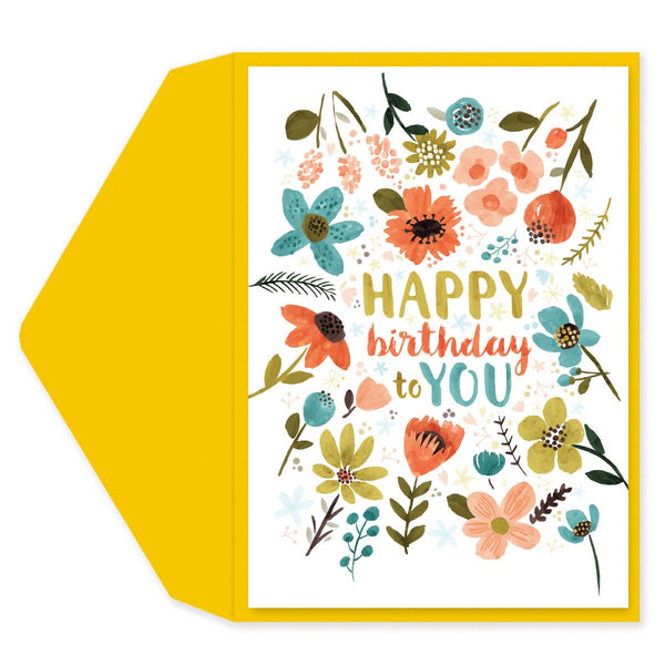 Funky Floral Birthday Card