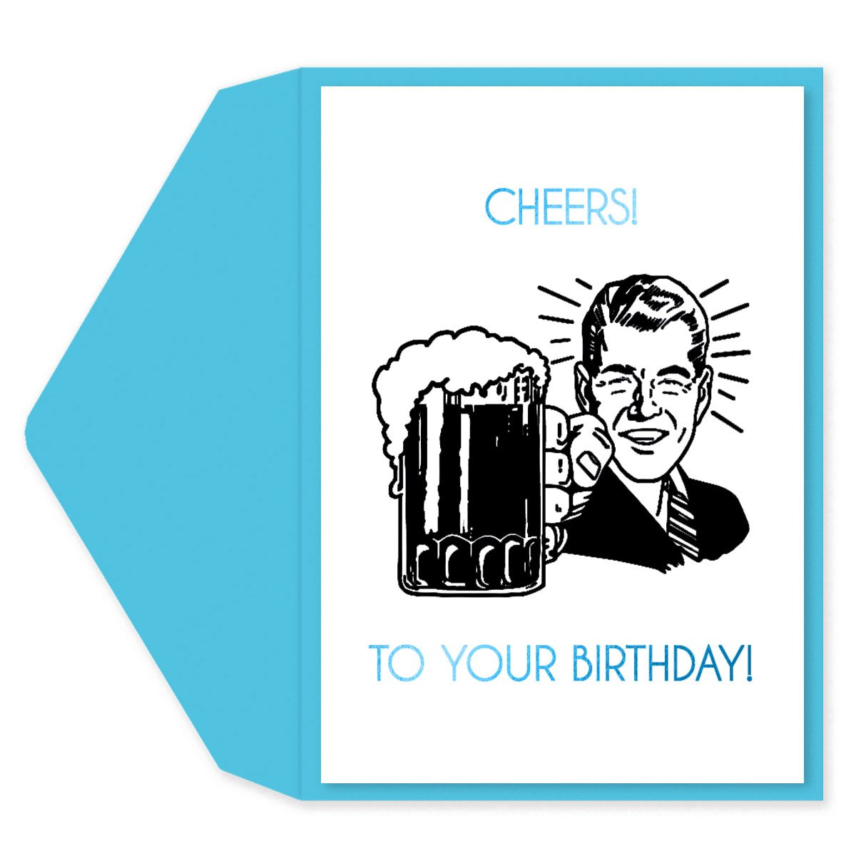 Retro Cheers Birthday Card
