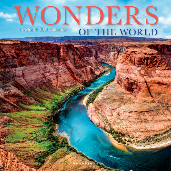 Wonders of the World Wall Calendar