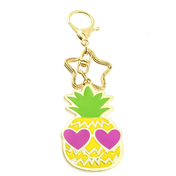 Pineapple Vibes Keychain