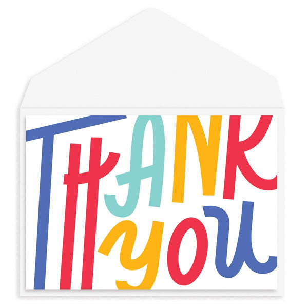 Colorful Thank You Thank You Card