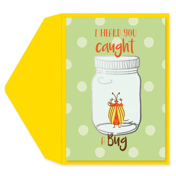 Caught A Bug Get Well Card