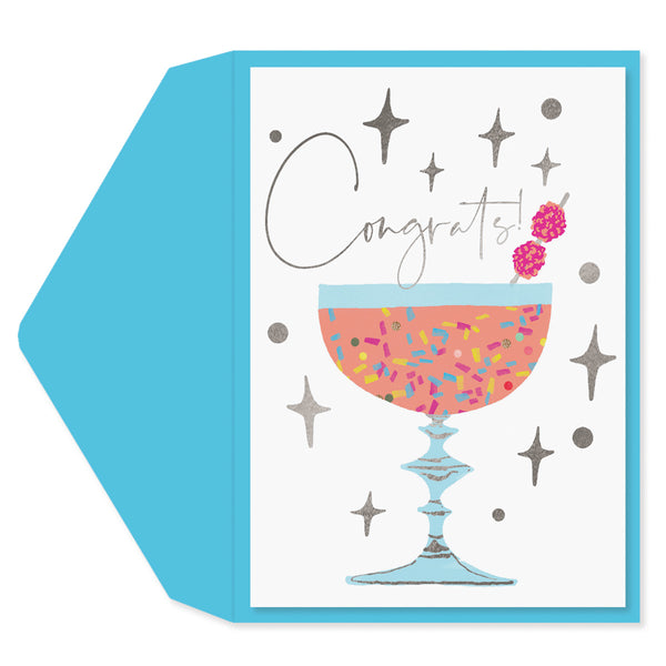 Retro Cocktail Congratulations Card