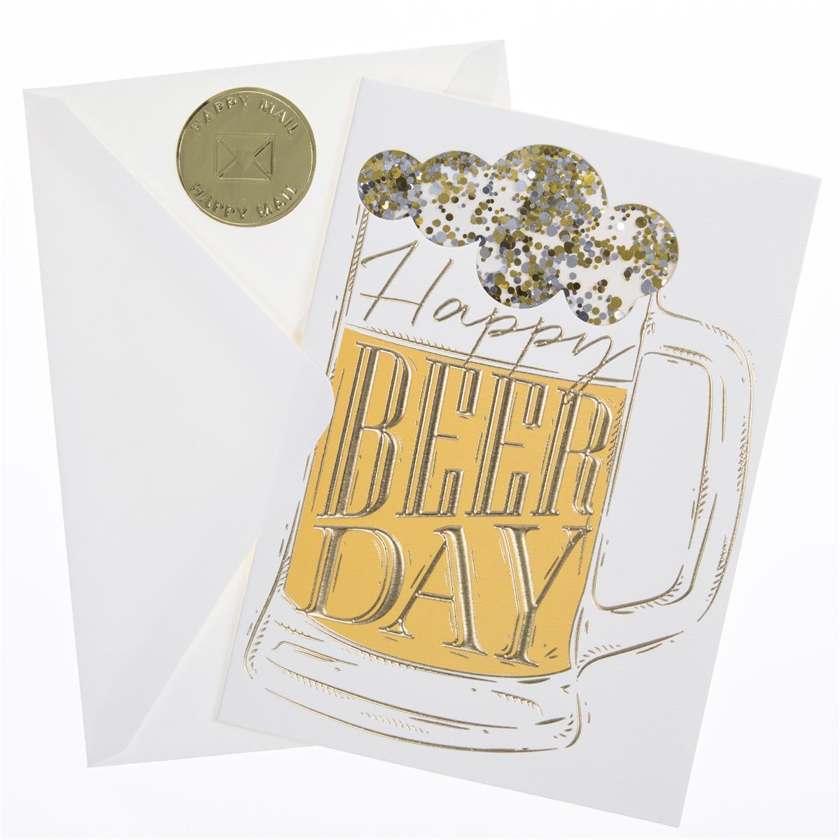 Happy Beer Day Birthday Handmade Card
