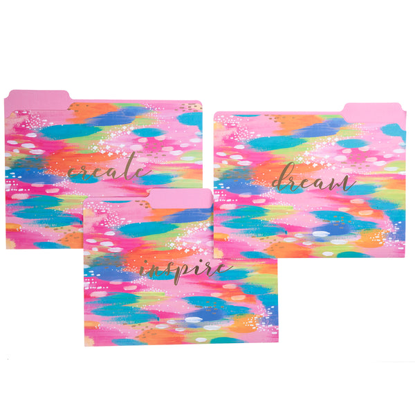 Etta Vee Brush Strokes File Folder Set