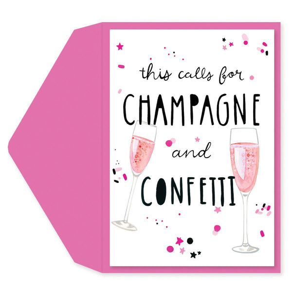 Champs And Confetti Engagement Card