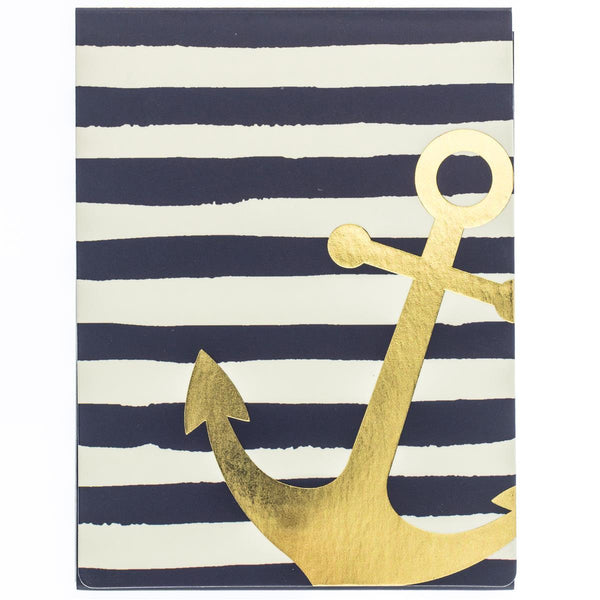 Navy Anchor Pocket Note