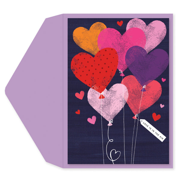 Balloon Anniversary Engagement Card