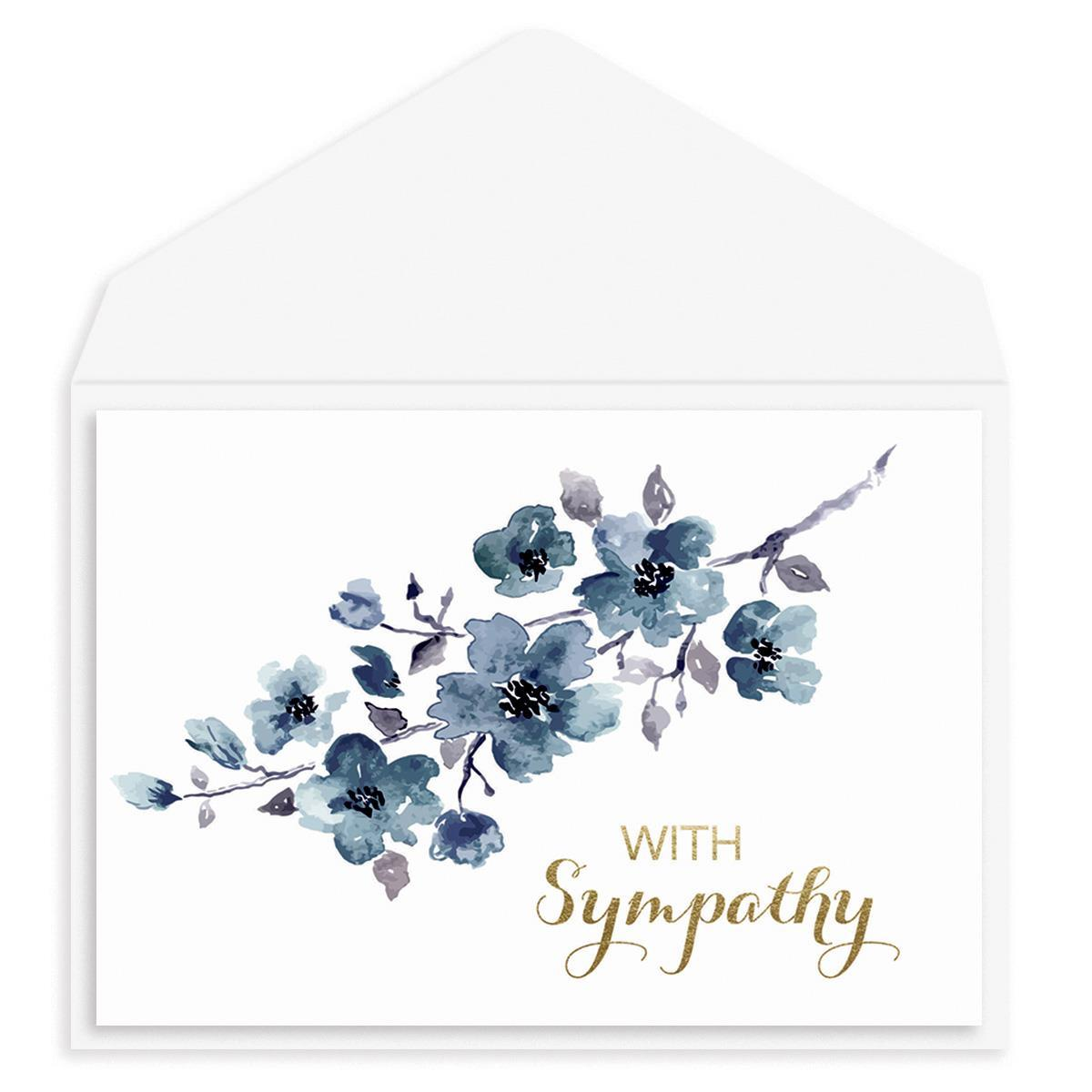 Blushing Blue Sympathy Card