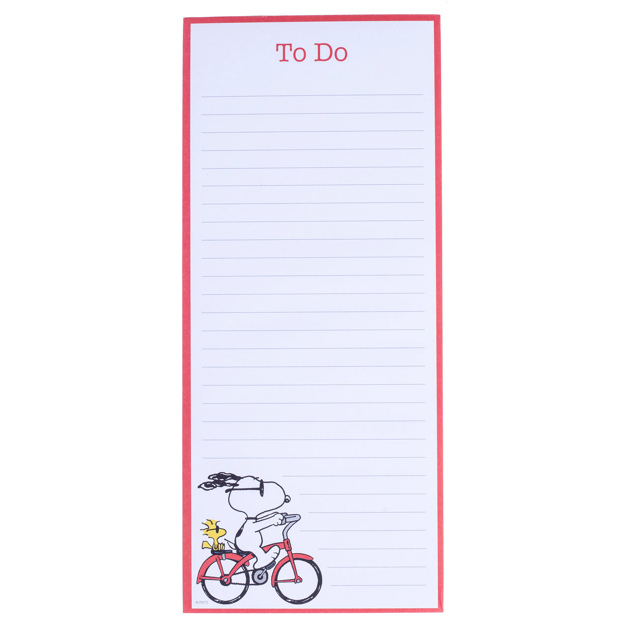 Peanuts Bike Magnetic Notepad