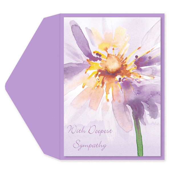 Watercolor Fower Sympathy Card