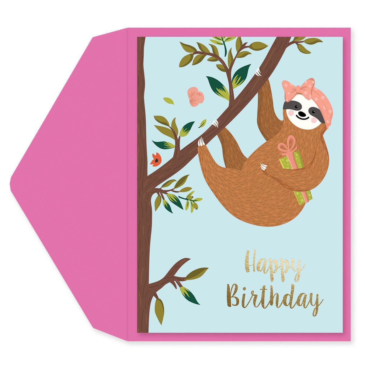 Sloth Birthday Card