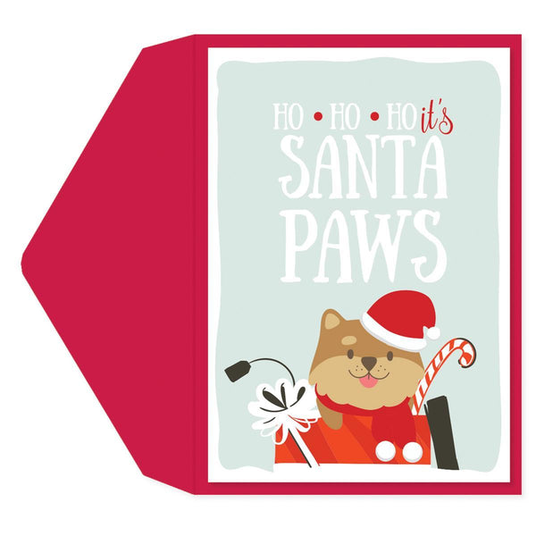 Santa Paws Holiday Greeting Card