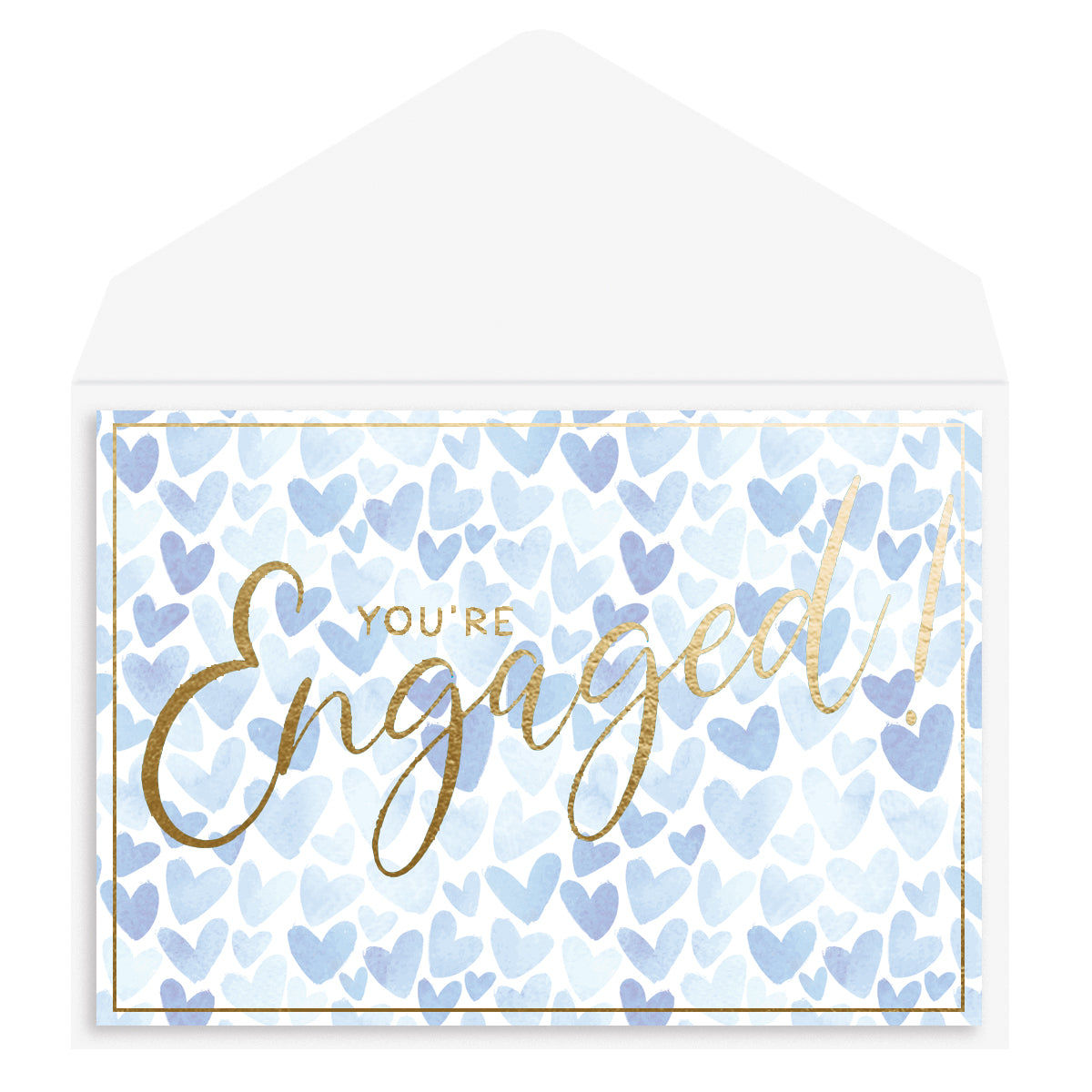 Engaged hearts Engagement Card