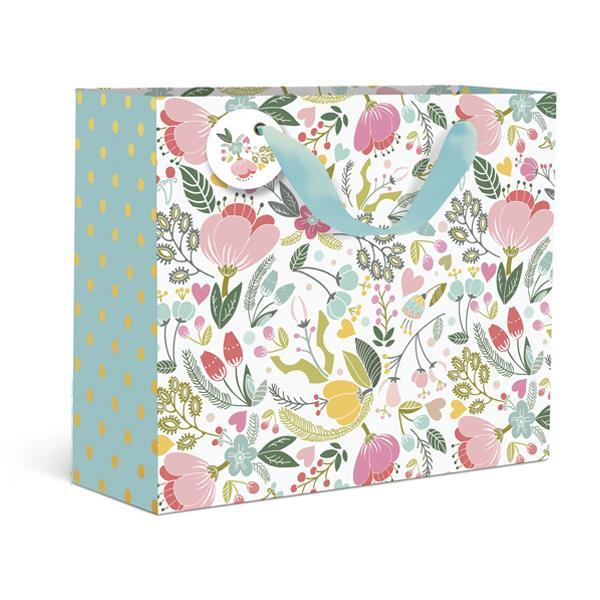 Dots and Floral Small Gift Bag