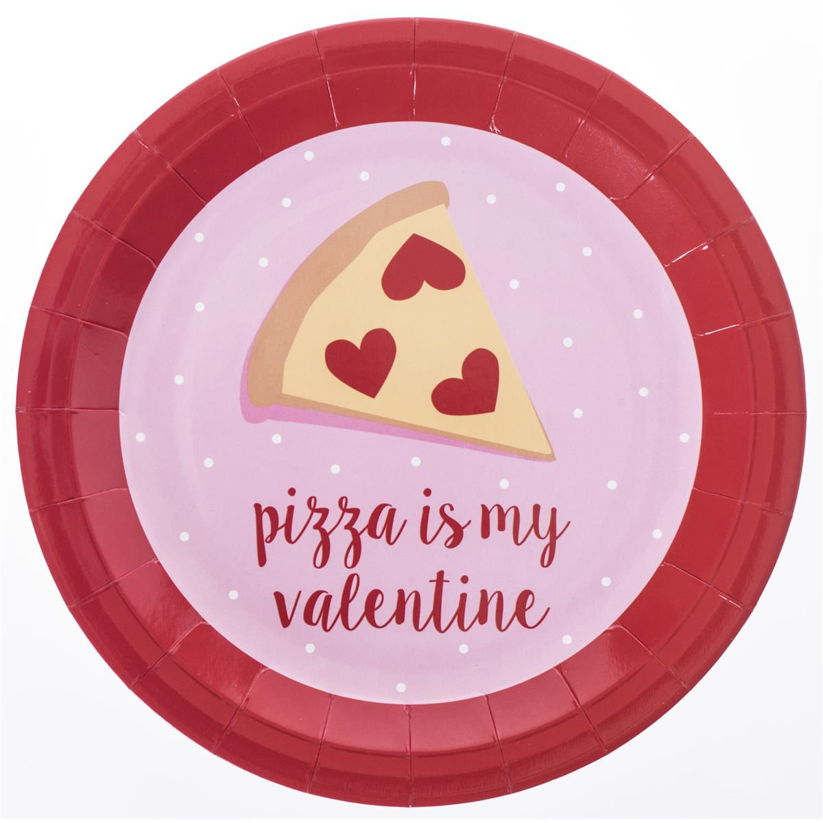 "Pizza Valentine Plate 9"" Paper Plates"