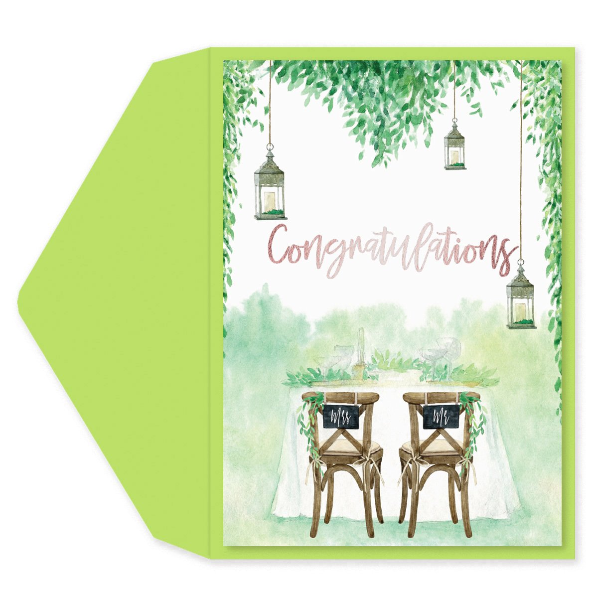 Garden Chairs Wedding Card