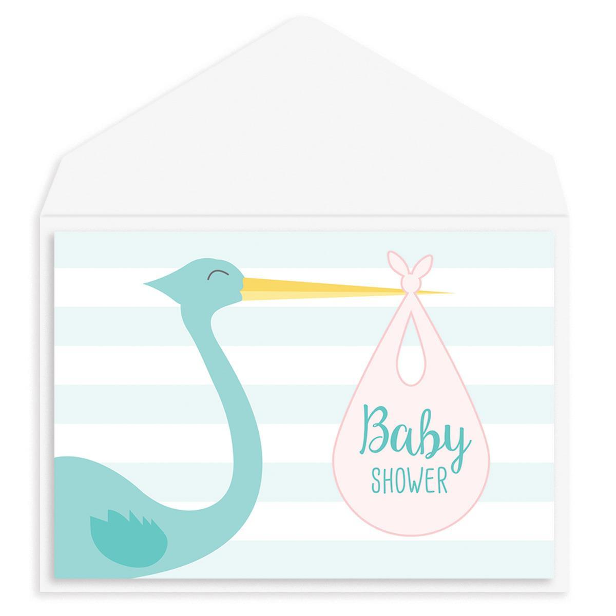 Stork Delivery Baby Shower Card