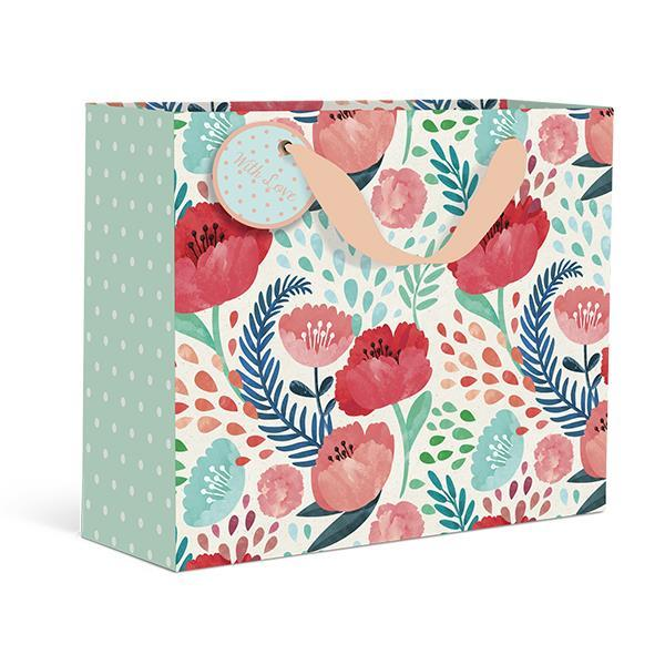 Botanical Watercolor Large Gift Bag