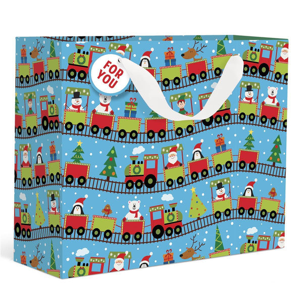 Train Holiday Large Gift Bag