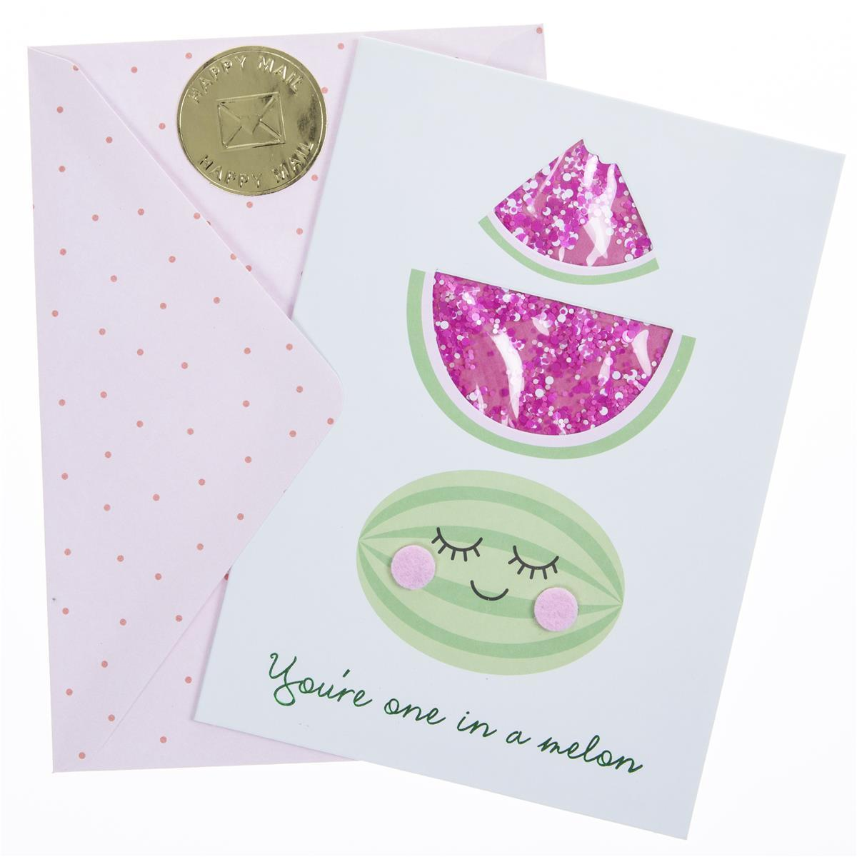 Watermelons Thank You Handmade Card
