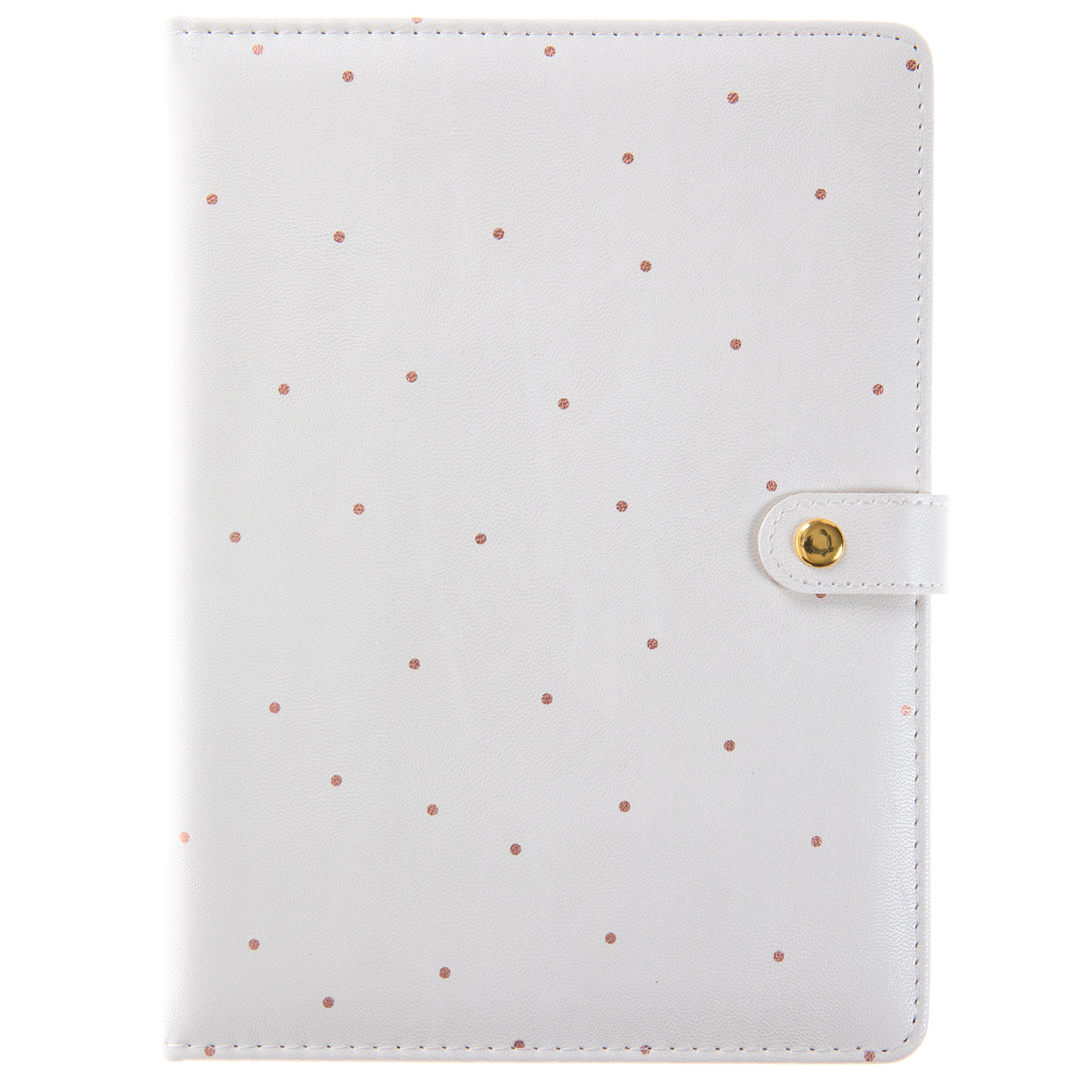 Pearlized Polka Dot 6x8 Snap Journal