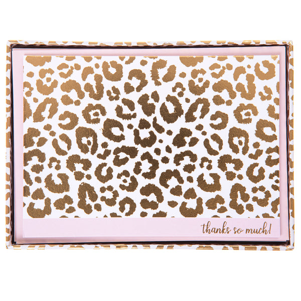 Cheetah Boxed Cards