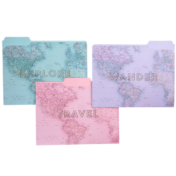 Wanderlust File Folder Set