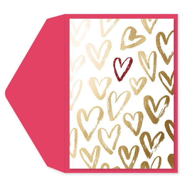 Brushed Hearts Anniversary Card